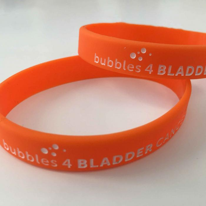 bubbles for bladder cancer wristband