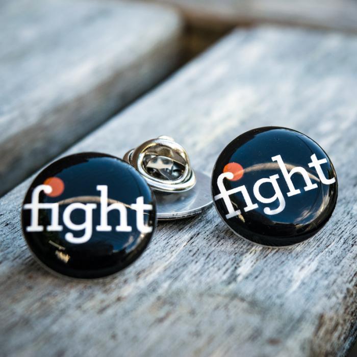 Fight Pin Badge