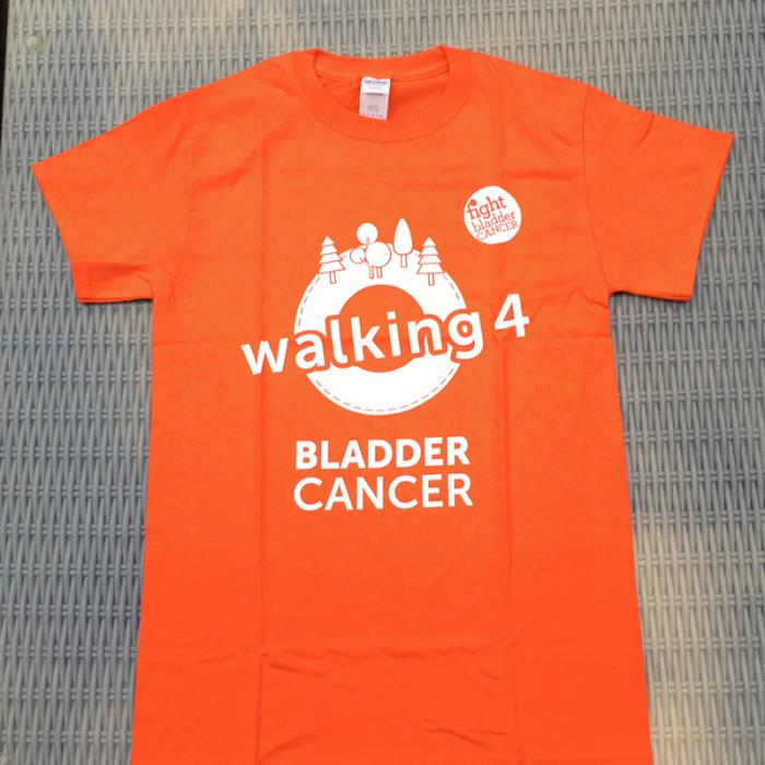Walking 4 Bladder Cancer T-Shirt