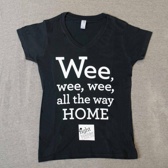Ladies Wee-Wee-Wee T-Shirt Black